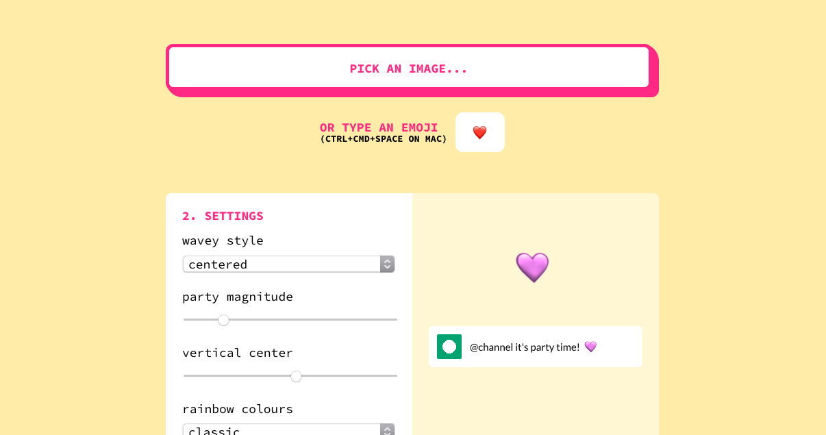Screenshot of the Party-ify website